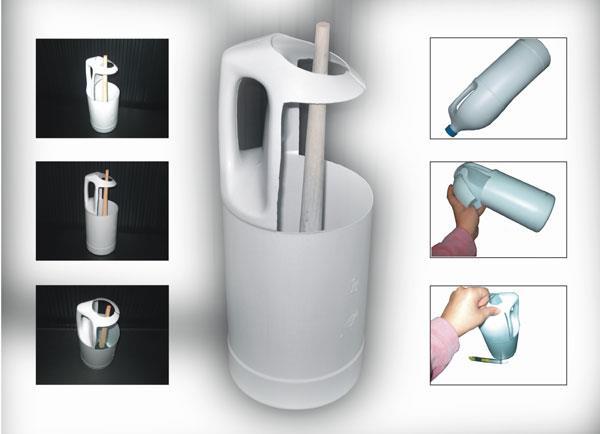Decorar Un Baño Reciclando:envase vacío de cloro, o o cualquiera que tenga asa Cuter o