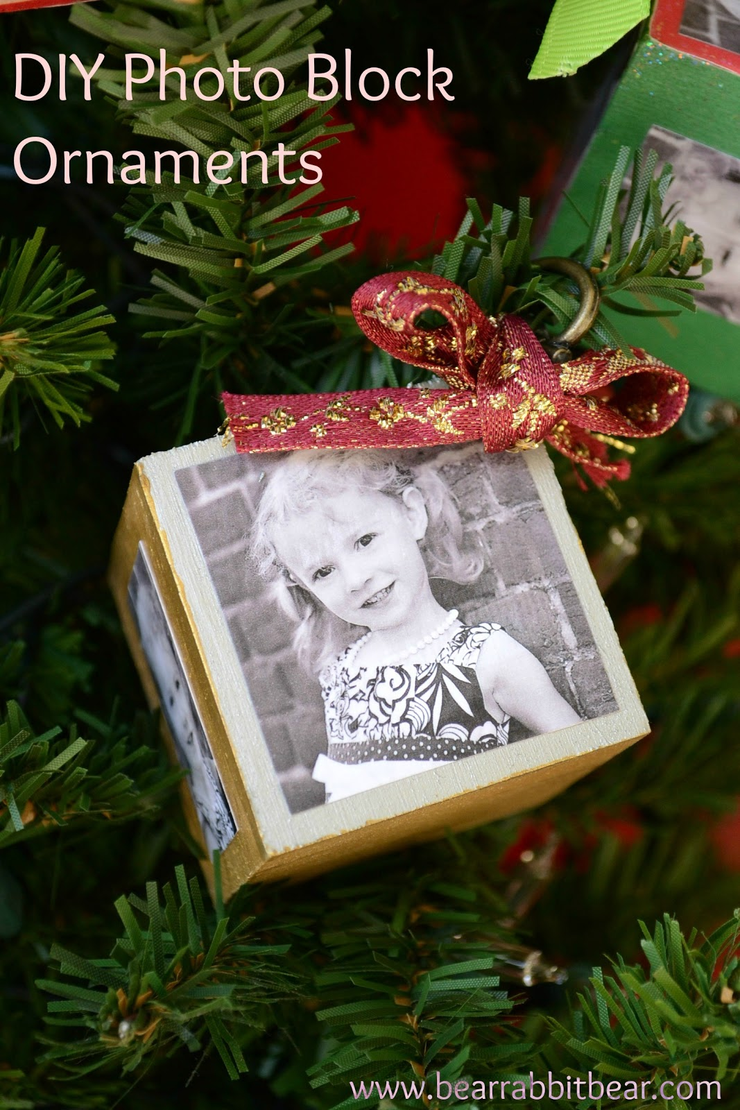 DIY Photo Block Ornaments