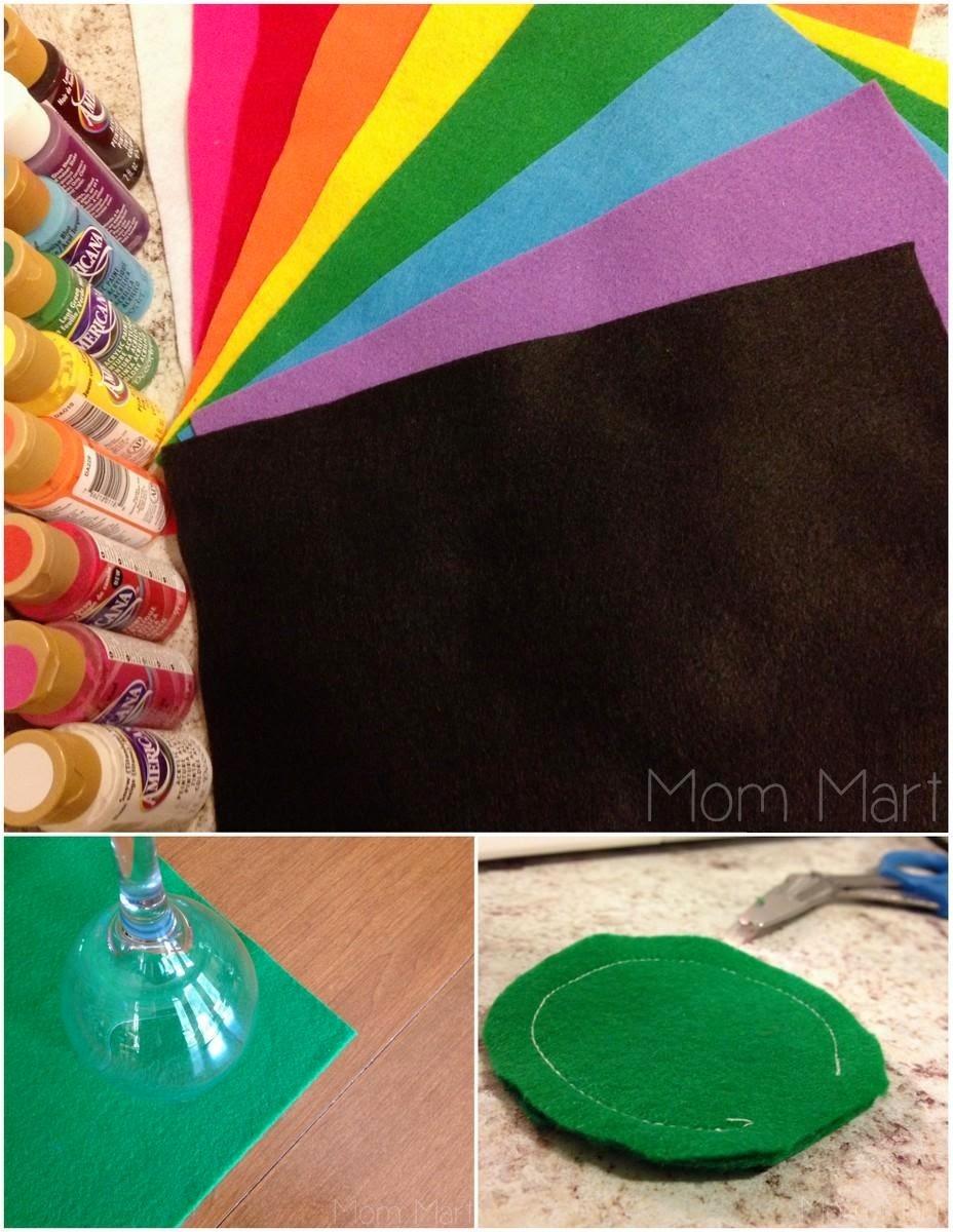 felt color matching game #DIY #Tutorial #Homemade #FeltLollipop #Education #TeachColor