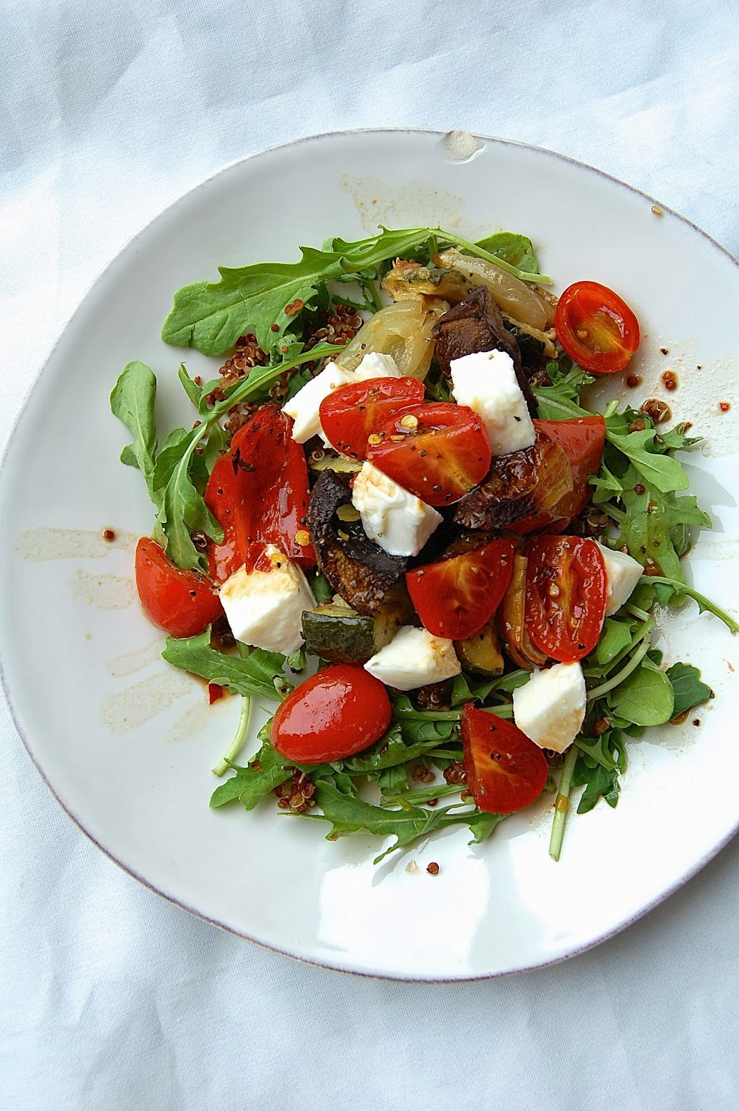 Roasted Vegetable Couscous with Tomatoes and Mozzarella | www.kettlercuisine.com