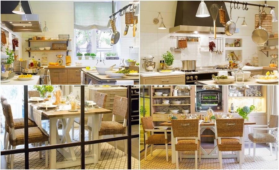 wystrój wnętrz, home decor, wnętrza, urządzanie, aranżacje, dekoracje, dom, mieszkanie, kuchnia, jadalnia, stół, krzesła, wiklina, półki, okap