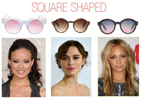 Which sunglasses to wear when you have a square shaped face - Nicole Richie,
