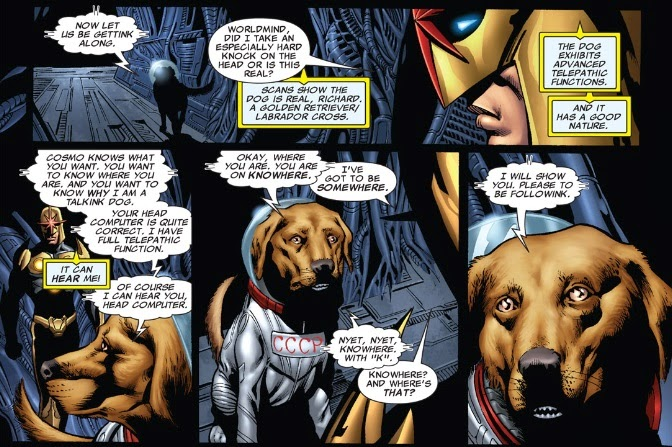 Cosmo The Dog Guardians Of The Galaxy When nova met cosmoCosmo The Dog Guardians Of The Galaxy