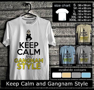kaos distro keep calm and gangnamstyle