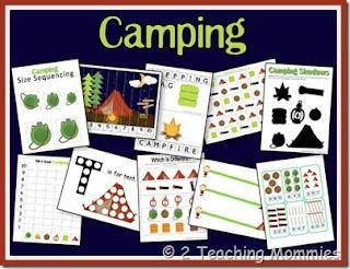 http://ateachingmommy.com/2012/07/free-camping-preschool-unit/