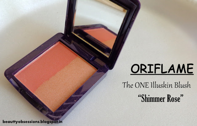"Oriflame The ONE Illuskin Blush ""Shimmer Rose"" - Review,Price & Swatches"