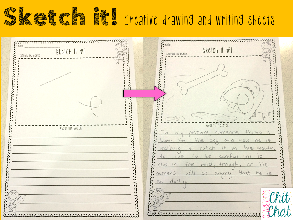http://www.teacherspayteachers.com/Product/Sketch-it-Creative-Writing-and-Drawing-Sheets-1574604