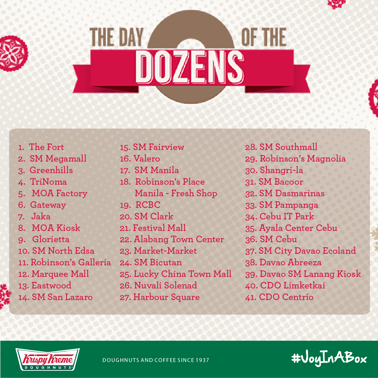 FTW! Blog, Krispy Kreme, Day of the Dozen 2014, #032eatdrink, participating stores
