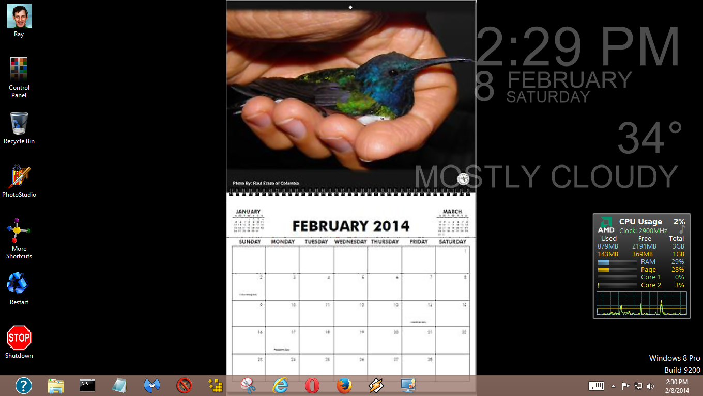 Desktop Calendar Windows 8 : Ray s ging again want a desktop calendar for your