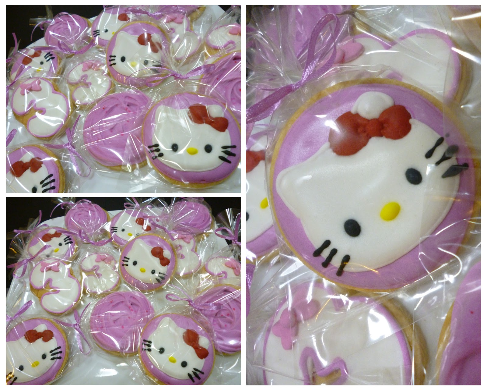 Hello Kitty Theme Birthday Cake and Cookie Heavenly Sweet It Is
