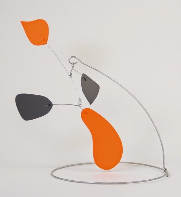 orange blurbott - stabile by mark leary