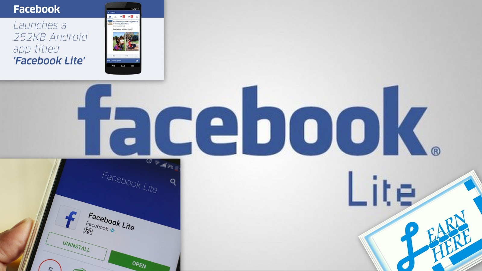 Learn here corner facebook lite for indian and philippine for Facebook lite
