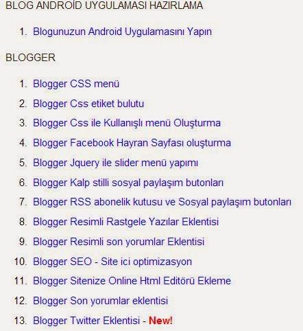 blogger sitemap sayfası oluşturma