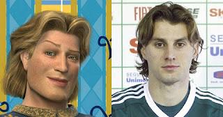 Henrique, zagueiro do Napoli, mas que ficou famoso por defender o Palmeiras, é a cara do Príncipe Encantando do filme Shrek.