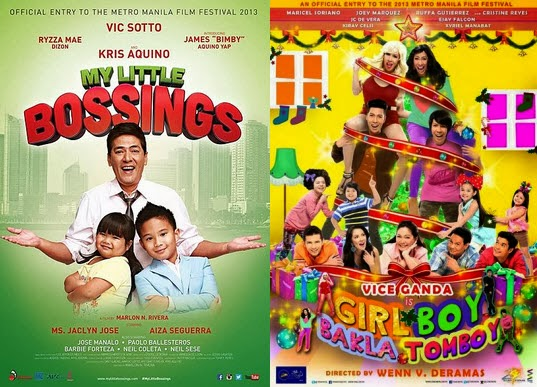 My Little Bossings and Girl Boy Bakla Tomboy in a tight race to be MMFF 2013 top grosser