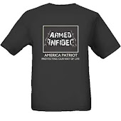 armed infadel t-shirts -black