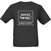 armed infadel t-shirts -black