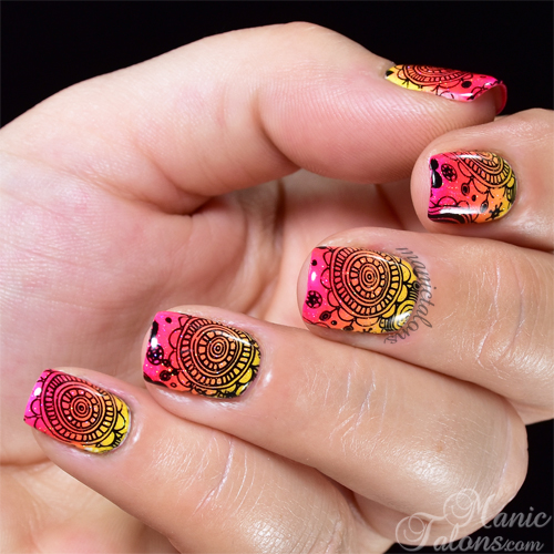 Bright Summer Gradient with Stamping