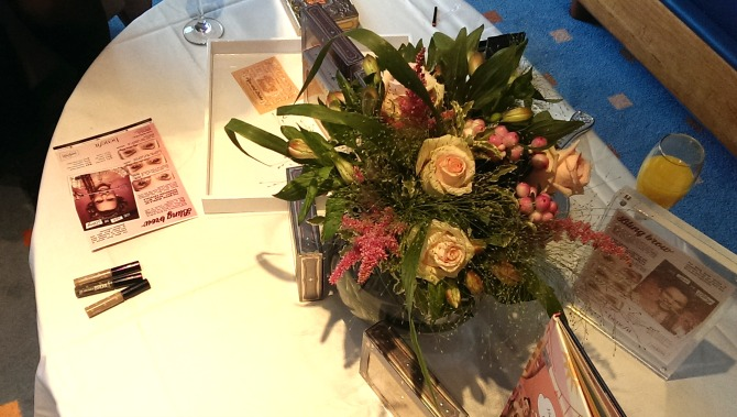 Flowers at the Benefit bling brow event