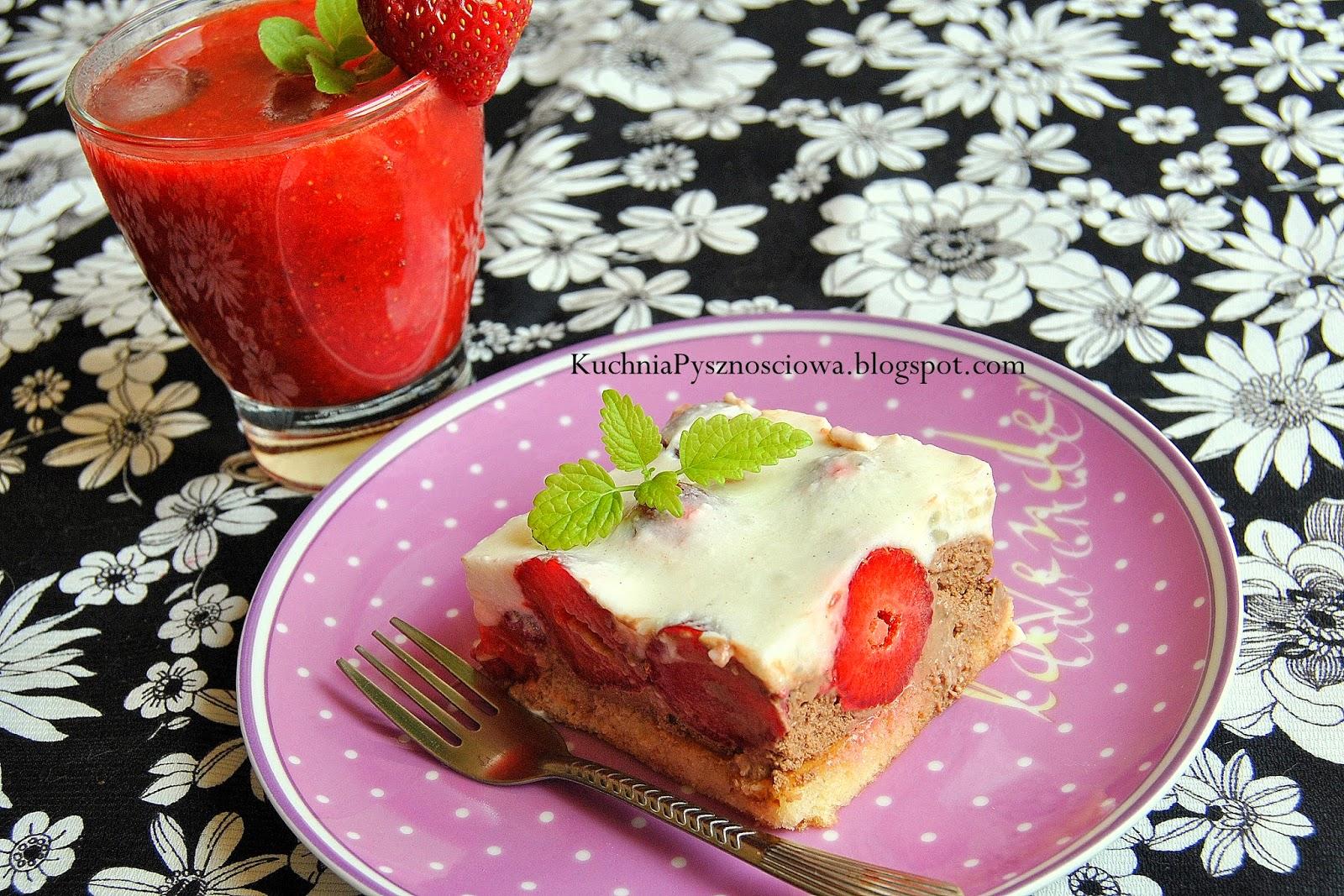 228. Ciasto jogurtowe z truskawkami specjalnie dla mamy