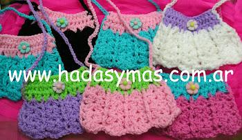 Carteritas en crochet para nenas