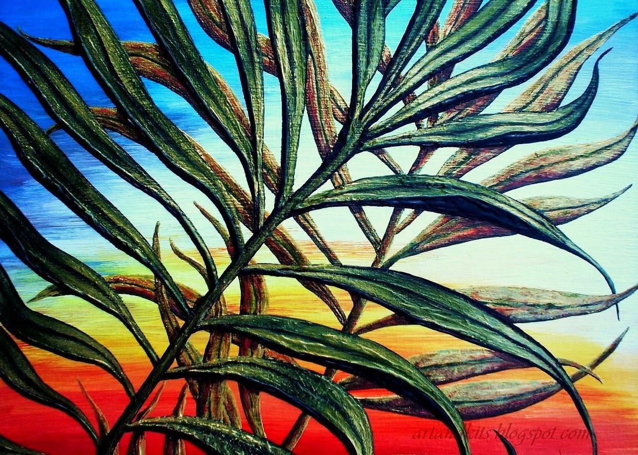 Hoje, deixo por aqui, os primeiros detalhes, de mais uma das minhas pinturas a óleo e tinta acrílica, sobre tela, intitulada... Brisa de Verão. / Today, I leave here, another one of my oil and acrylic paintings on canvas, titled... Summer Breeze.