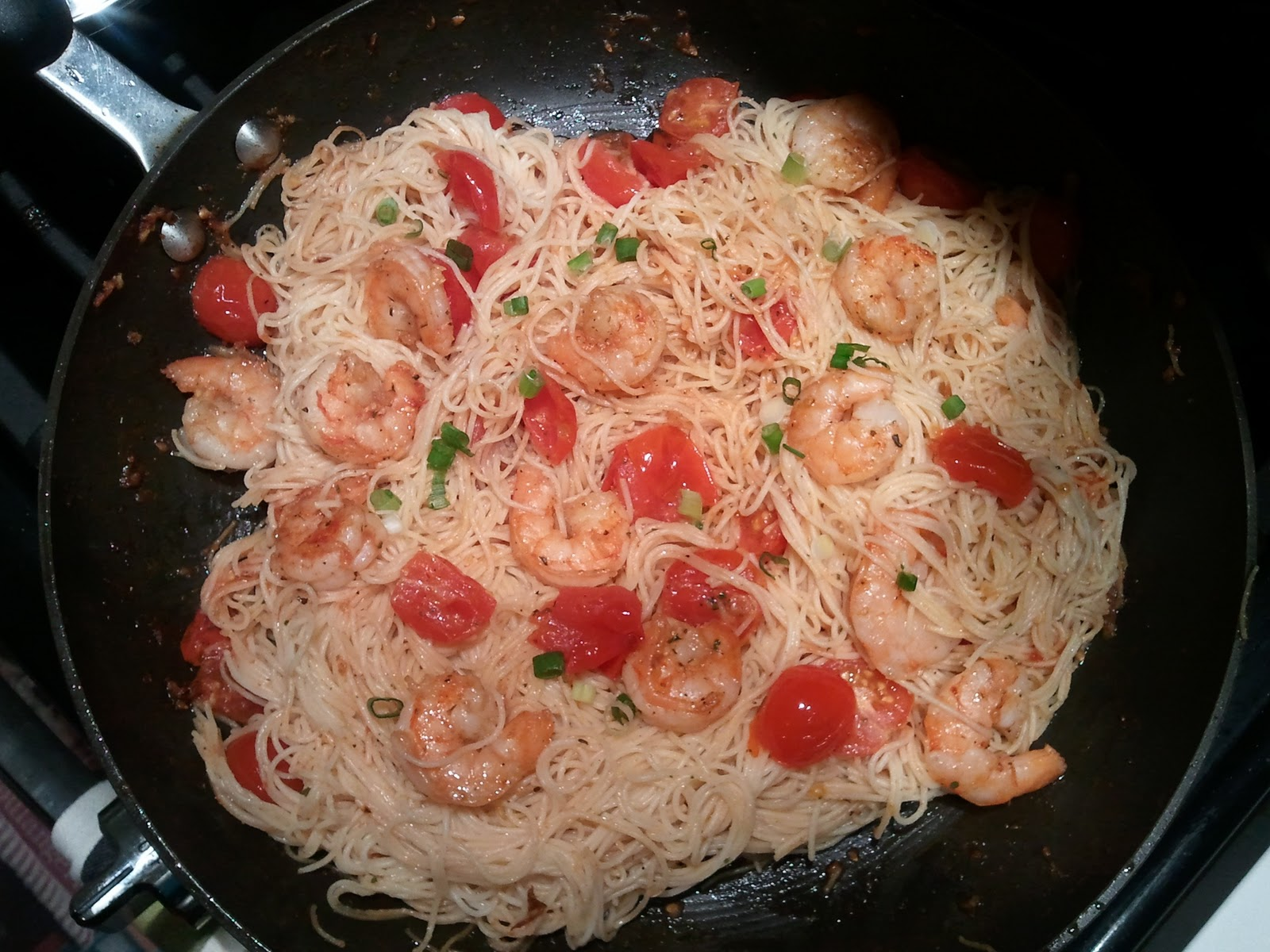 Stirring Up A Dream: Angel Hair Pasta with Shrimp and Tomato