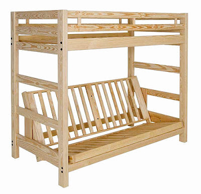 loft bed and futon are connected together best kids