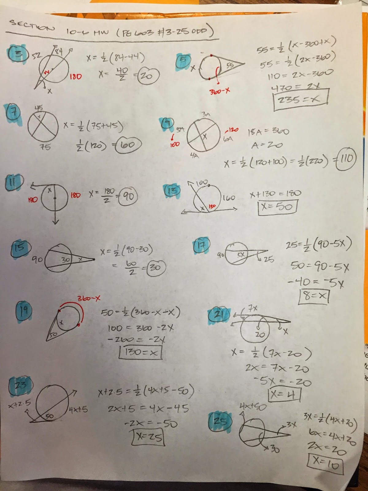 Honors Geometry - Vintage High School: Section 10-6 ...