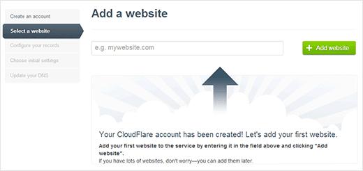 Menambah website pada CloudFlare