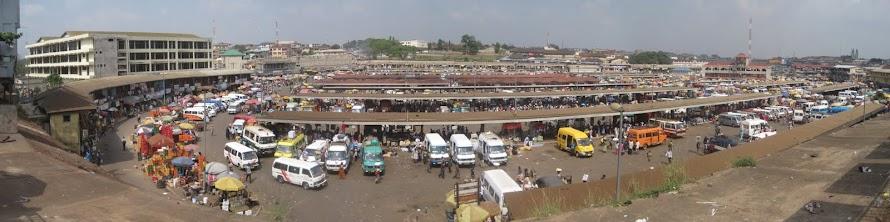 Kumasi, Ghana - Tro-Tro Bus Station