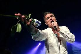 Morrissey reaching for a Blue Rose in Lisbon 2014