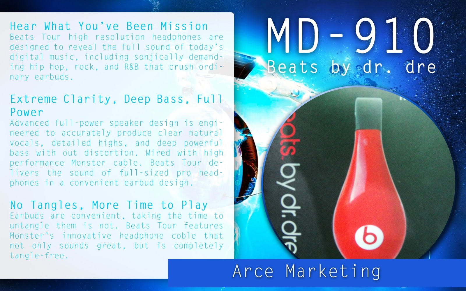 Arce Marketing: Beats by dr. dre MD-910