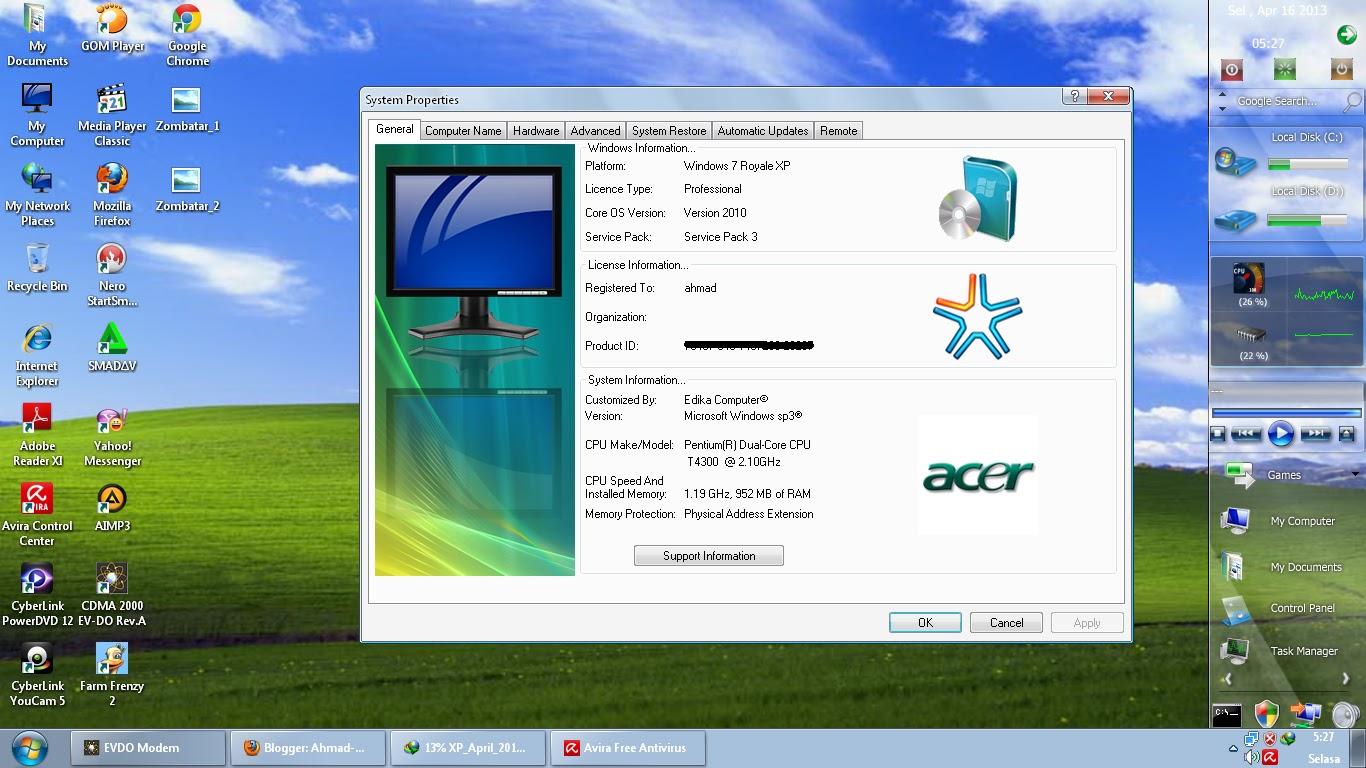 Кряк для Виндовс XP Sp3 скачать - картинка 1