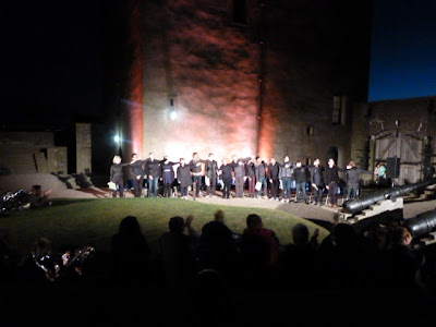 Dundee Rep Actors Take a Bow At the End of Performance at Broughty Ferry Castle