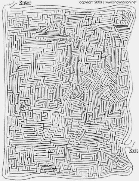 Hard Christmas Mazes Printable