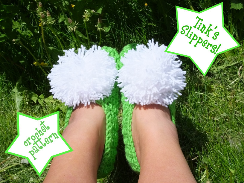 Tinkerbell slippers- crocheted