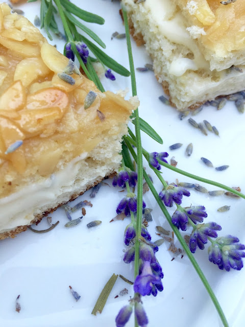 Traditional Bee Sting Cake with Lavender pastry cream
