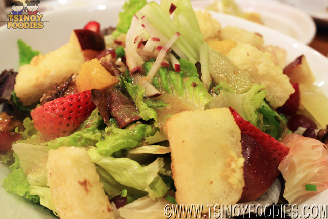"Nirvana ""Crispy tofu, Fruits & Walnuts with Sesame Dressing"