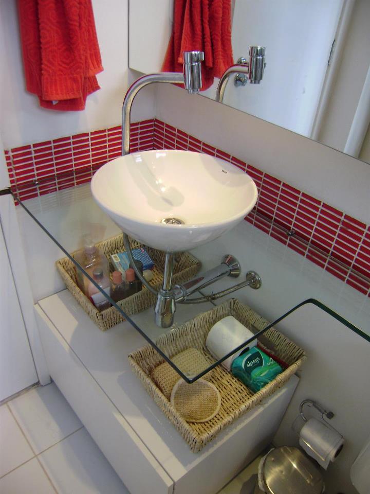 De tudo um pouco em família ! Banheiros -> Decoracao De Banheiro Com Bancada De Vidro