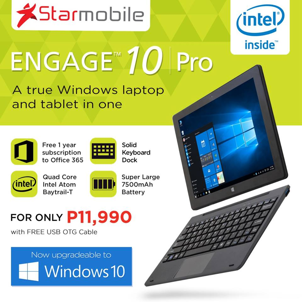 Starmobile ENGAGE 10 Pro Windows 10 Update