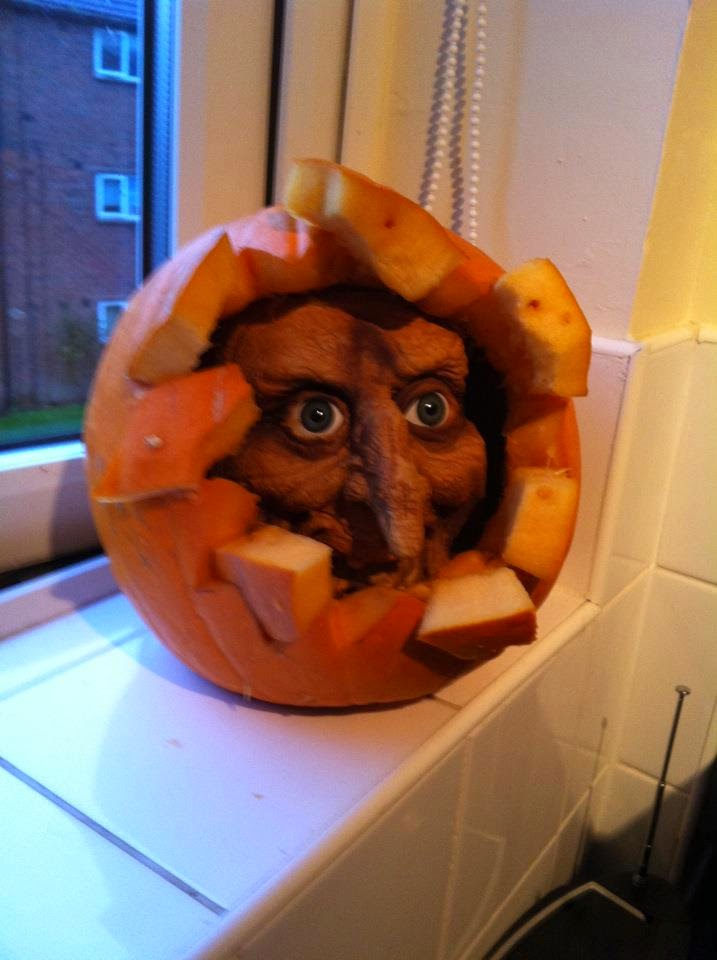Mask Breaking Out Of Pumpkin
