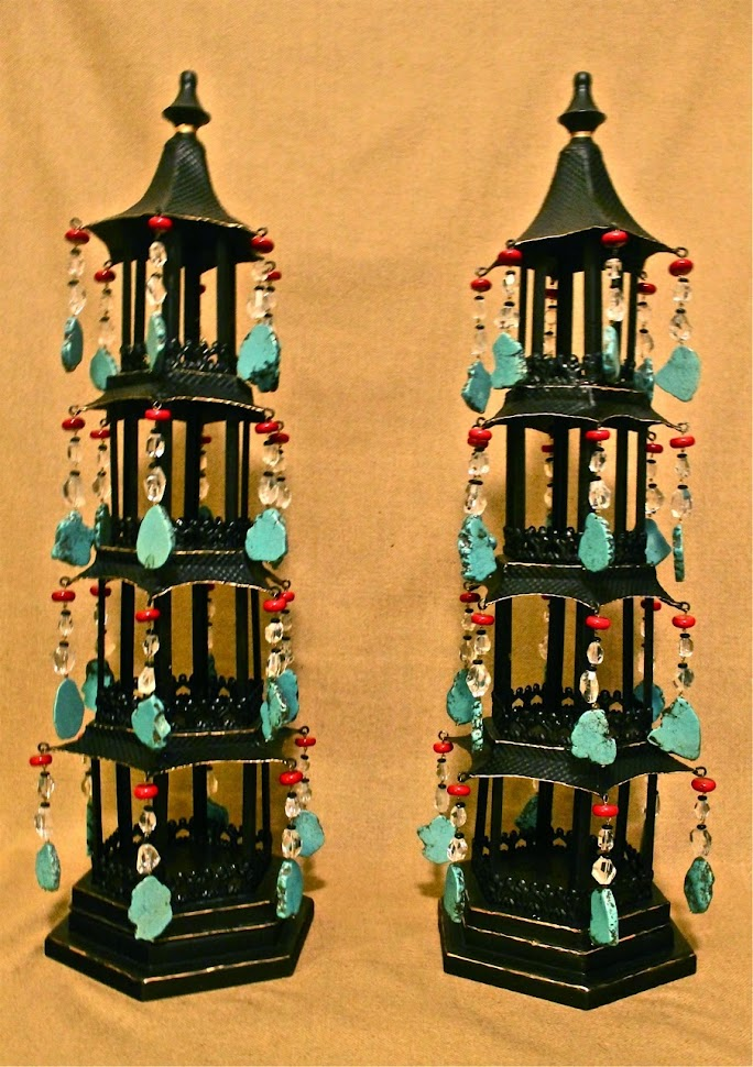 MJH Design Arts featuring an these glorious jeweled Pagoda Lanterns
