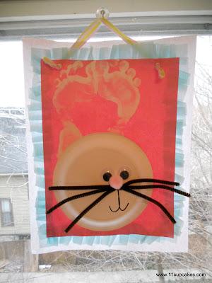 DIY Easter Footprint Bunnies Kids Craft