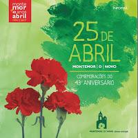 25 DE ABRIL É FESTA EM MONTEMOR-O-NOVO