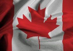 Bandera de Canada.-
