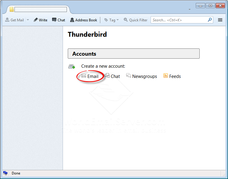 how to add a live mail account in thunderbird