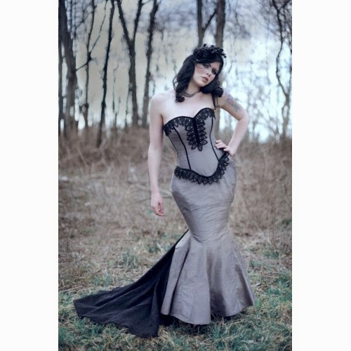 Gothic Corset Wedding Dresses - Wedding Short Dresses
