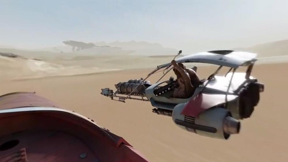 Corra pelo deserto de Jakku de Star Wars em experiência 360º