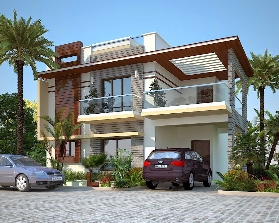 East Elevation Plan : Peninsula villas plots apartment projects sarjapur